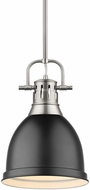 Golden Lighting 3604-S-PW-BLK Duncan Modern Pewter Mini Pendant Lighting