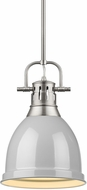 Golden Lighting 3604-S-PW-GY Duncan Contemporary Pewter Mini Pendant Light