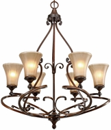 Golden Lighting 4002-6-RSB Loretto Modern Russet Bronze Chandelier Light