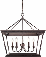 Golden Lighting 4214-5-EB Davenport Etruscan Bronze Mini Lighting Chandelier
