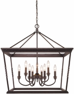 Golden Lighting 4214-9-EB Davenport Etruscan Bronze Chandelier Light