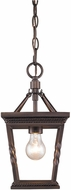 Golden Lighting 4214-M1L-EB Davenport Etruscan Bronze Mini Drop Ceiling Light Fixture