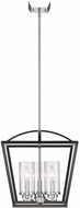 Golden Lighting 4309-3P-BLK-SD Mercer Contemporary Black Foyer Lighting