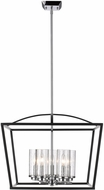 Golden Lighting 4309-5-BLK-SD Mercer Modern Black Foyer Light Fixture