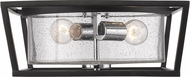 Golden Lighting 4309-FM-BLK-SD Mercer Contemporary Black Ceiling Lighting