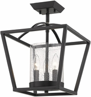 Golden Lighting 4309-SF-BLK-BLK-SD Mercer Modern Matte Black Home Ceiling Lighting