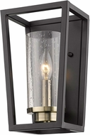 Golden Lighting 4309-WSC-BLK-AB-SD Mercer Contemporary Matte Black Wall Lighting