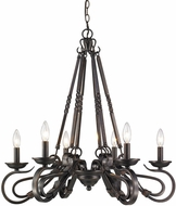 Golden Lighting 4414-6-ABZ Navarro Aged Bronze Chandelier Light