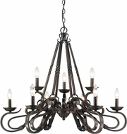 Golden Lighting 4414-9-ABZ Navarro Aged Bronze Chandelier Lighting
