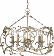 Golden Lighting 4616-6-WG Colette White Gold Lighting Chandelier