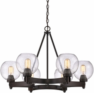 Golden Lighting 4855-6-RBZ-SD Galveston Modern Rubbed Bronze Chandelier Light