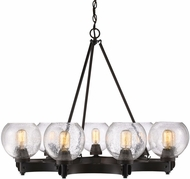 Golden Lighting 4855-9-RBZ-SD Galveston Contemporary Rubbed Bronze Ceiling Chandelier