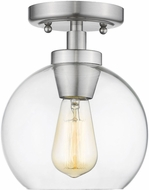 Golden Lighting 4855-FM-PW-CLR Galveston Modern Pewter Overhead Lighting Fixture