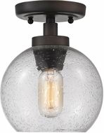 Golden Lighting 4855-FM-RBZ-SD Galveston Contemporary Rubbed Bronze Ceiling Light