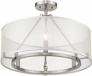 Golden Lighting 5019-3SF-PW Alyssa Modern Pewter Ceiling Lighting Fixture