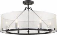 Golden Lighting 5019-6SF-BLK Alyssa Contemporary Matte Black Ceiling Light Fixture
