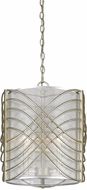 Golden Lighting 5516-3P-WG-SHR Zara Modern White Gold Drop Ceiling Lighting