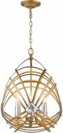 Golden Lighting 5717-4P-RGD Signet Royal Gold Pendant Hanging Light