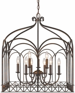 Golden Lighting 5815-9-FB Gateway Contemporary Fired Bronze Lighting Chandelier