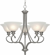 Golden Lighting 6005-5-PW Lancaster Pewter Chandelier Lamp
