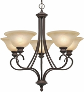 Golden Lighting 6005-5-RBZ Lancaster Rubbed Bronze Chandelier Light