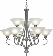 Golden Lighting 6005-9-PW Lancaster Pewter Ceiling Chandelier
