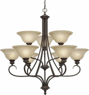 Golden Lighting 6005-9-RBZ Lancaster Rubbed Bronze Hanging Chandelier