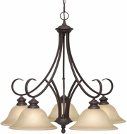 Golden Lighting 6005-D5-RBZ Lancaster Rubbed Bronze Chandelier Lighting