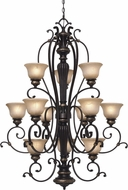 Golden Lighting 6029-363-EB Jefferson Etruscan Bronze Lighting Chandelier