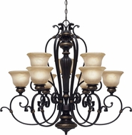 Golden Lighting 6029-9-EB Jefferson Etruscan Bronze Chandelier Light