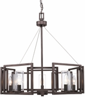 Golden Lighting 6068-5-GMT Marco Contemporary Gunmetal Bronze Ceiling Chandelier