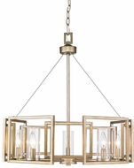 Golden Lighting 6068-5-WG Marco Modern White Gold Hanging Chandelier