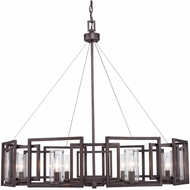 Golden Lighting 6068-8-GMT Marco Contemporary Gunmetal Bronze Chandelier Light