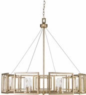 Golden Lighting 6068-8-WG Marco Modern White Gold Chandelier Lighting