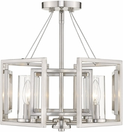 Golden Lighting 6068-SF-PW Marco Modern Pewter Flush Mount Light Fixture