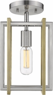 Golden Lighting 6070-1SF-PW-AB Tribeca Contemporary Pewter Ceiling Light Fixture