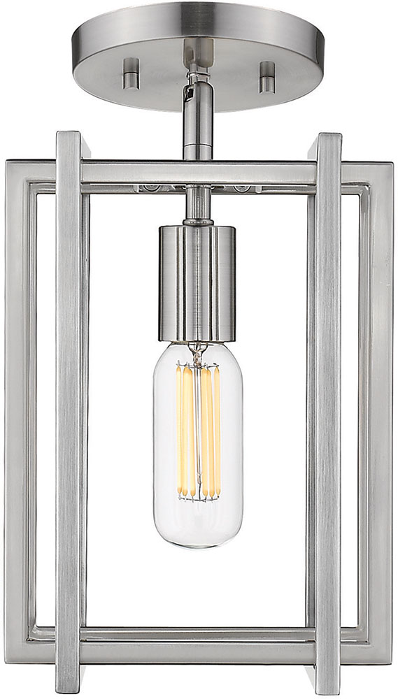 Golden Lighting 6070-1SF-PW-PW Tribeca Contemporary Pewter ...