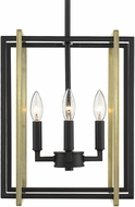 Golden Lighting 6070-4-BLK-AB Tribeca Modern Black Foyer Lighting Fixture