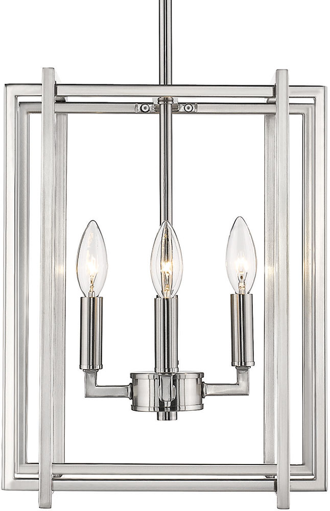 Golden Lighting 6070-4-PW-PW Tribeca Contemporary Pewter ...