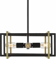 Golden Lighting 6070-4P-BLK-AB Tribeca Contemporary Black Lighting Pendant
