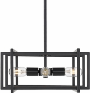 Golden Lighting 6070-4P-BLK-BLK Tribeca Modern Black Pendant Lamp
