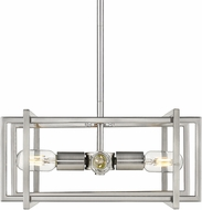 Golden Lighting 6070-4P-PW-PW Tribeca Modern Pewter Pendant Lighting Fixture