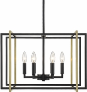 Golden Lighting 6070-6-BLK-AB Tribeca Modern Black 21  Hanging Pendant Lighting