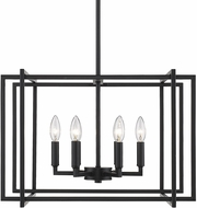 Golden Lighting 6070-6-BLK-BLK Tribeca Contemporary Black 21  Hanging Pendant Light