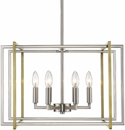 Golden Lighting 6070-6-PW-AB Tribeca Contemporary Pewter 21  Hanging Light Fixture