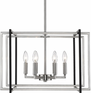 Golden Lighting 6070-6-PW-BLK Tribeca Modern Pewter 21  Drop Lighting