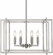 Golden Lighting 6070-6-PW-PW Tribeca Contemporary Pewter 21  Drop Ceiling Lighting