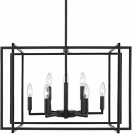 Golden Lighting 6070-9-BLK-BLK Tribeca Contemporary Black 26  Ceiling Pendant Light