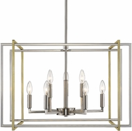 Golden Lighting 6070-9-PW-AB Tribeca Contemporary Pewter 26  Drop Lighting Fixture