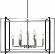 Golden Lighting 6070-9-PW-BLK Tribeca Modern Pewter 26  Pendant Lighting